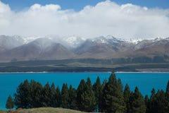 Lago Pukaki Foto de Stock Royalty Free