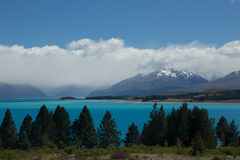 Lago Pukaki Fotografia de Stock Royalty Free