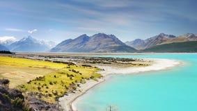 Lago Pukaki, alpi del sud, Nuova Zelanda Fotografia Stock Libera da Diritti