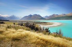 Lago Pukaki, alpi del sud, Nuova Zelanda Fotografie Stock