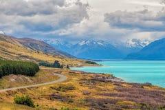 Lago Pukaki ed alpi del sud, Nuova Zelanda Immagine Stock