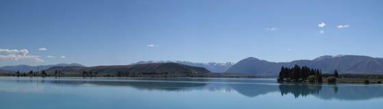 Lago Pukaki no panorama de Nova Zelândia Imagem de Stock