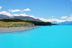 Lago Pukaki, Nova Zelândia Imagem de Stock Royalty Free