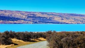 Lago Pukaki, Nuova Zelanda Fotografie Stock Libere da Diritti