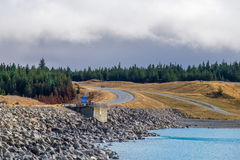 Lago Punkaki vicino a Aoraki/Mt Parco nazionale del cuoco, Nuova Zelanda Fotografie Stock Libere da Diritti