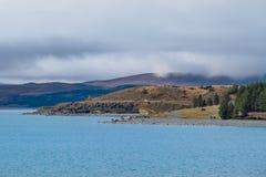 Lago Punkaki vicino a Aoraki/Mt Parco nazionale del cuoco, Nuova Zelanda Immagini Stock Libere da Diritti