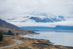 Lago Punkaki vicino a Aoraki/Mt Parco nazionale del cuoco, Nuova Zelanda Fotografia Stock Libera da Diritti