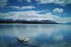 Lago Puraki, isola del sud, Nuova Zelanda Fotografia Stock
