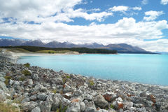 Lago Puraki, isola del sud, Nuova Zelanda Fotografia Stock Libera da Diritti