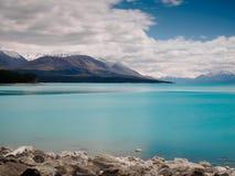 Lago Puraki, isola del sud, Nuova Zelanda Fotografie Stock