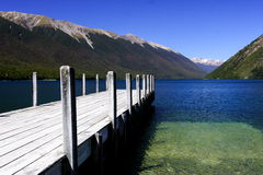 Lago puro Rotoiti Nova Zelândia Fotografia de Stock