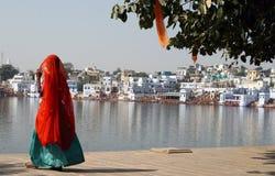 Lago Pushkar imagen de archivo