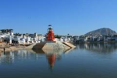 Lago Pushkar en Pushkar Fotografía de archivo libre de regalías