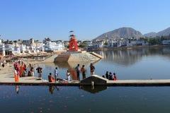 Lago Pushkar en Pushkar Imágenes de archivo libres de regalías