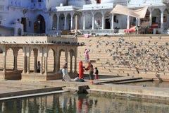 Lago Pushkar en Pushkar Fotos de archivo libres de regalías