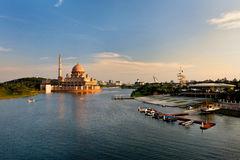 Lago Putrajaya de Malasia Imagen de archivo