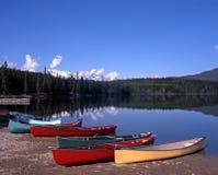 Lago pyramid, Alberta, Canada. Fotografia Stock Libera da Diritti