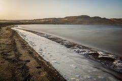 Lago Qaroun Fotografia Stock Libera da Diritti