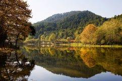 Lago Qianling en otoño Foto de archivo libre de regalías