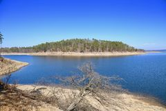 Lago quebrado bow, Oklahoma Foto de Stock Royalty Free