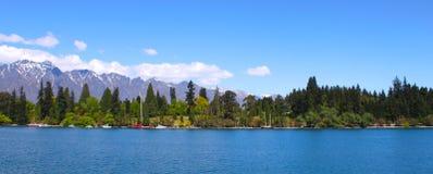 Lago Queenstown Nueva Zelanda Fotografía de archivo