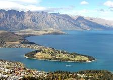Lago Queenstown Nuova Zelanda immagini stock