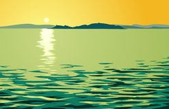 Lago quieto ilustração stock