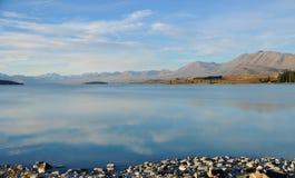 Lago quieto Tekapo, Nova Zelândia Foto de Stock