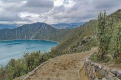 Lago Quilotoa, Latacunga Ecuador Immagini Stock