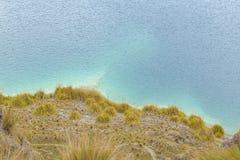 Lago Quilotoa, Latacunga Ecuador Immagini Stock Libere da Diritti