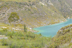 Lago Quilotoa, Latacunga Ecuador Immagine Stock Libera da Diritti