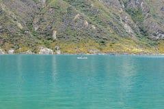 Lago Quilotoa, Latacunga Ecuador Fotografia Stock Libera da Diritti