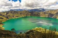 Lago Quilotoa fotografia stock libera da diritti