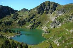 Lago Rabassoles in Pyrenees Fotografie Stock Libere da Diritti