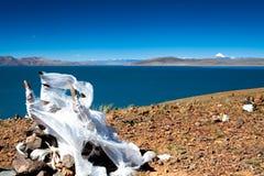 Lago Rakshasta por Kangrinboqe máximo Foto de Stock