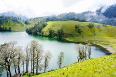 Lago Ranu Kumbolo immagini stock