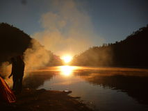Lago Ranukumbolo Fotografia Stock