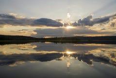 Lago Raudsjon em Noruega Imagens de Stock
