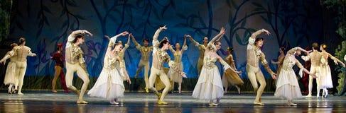 Lago real ruso swan del perfome del ballet Foto de archivo