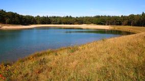 Lago recreacional em Nunspeet em Países Baixos Foto de Stock