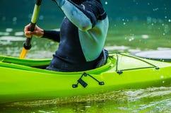 Lago recreacional que Kayaking Fotos de Stock Royalty Free