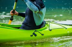 Lago recreativo Kayaking Fotos de archivo libres de regalías