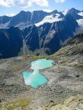 Lago Rinnen nelle alpi di Stubai Fotografia Stock Libera da Diritti