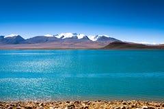 Lago Rinqin Xubco lake no condado de Zhongba Foto de Stock