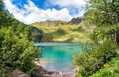 Lago Ritom, Piora della Svizzera Fotografie Stock
