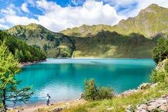 Lago Ritom, Piora della Svizzera Fotografia Stock Libera da Diritti