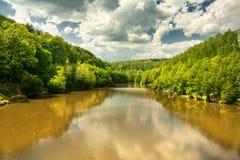 Lago river blanco foto de archivo