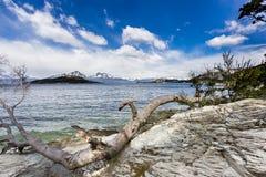 Lago Roca della La in Tierra Del Fuego National Park in Argentina Fotografie Stock Libere da Diritti