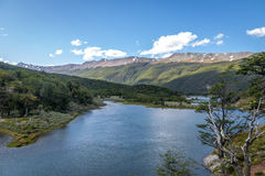 Lago Roca a Tierra del Fuego National Park nella Patagonia - Ushuaia, Tierra del Fuego, Argentina Immagini Stock Libere da Diritti