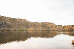 Lago in roccia Fotografia Stock